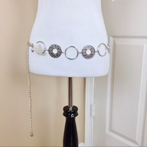 Silver metal ball and chain belt